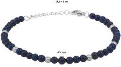 Zilveren Huiscollectie Armband lapis 4,5 mm 18,5 + 3 cm - PSN6505743