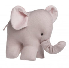 Roze Baby's Only knuffelolifant Sparkle donkerroos knuffel 10 cm