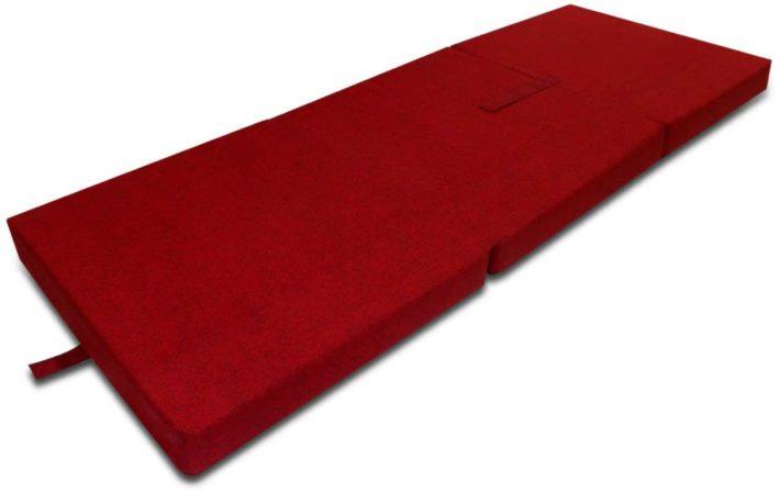 Afbeelding van Rode VidaXL Schuimmatras opklapbaar rood 190x70x9 cm