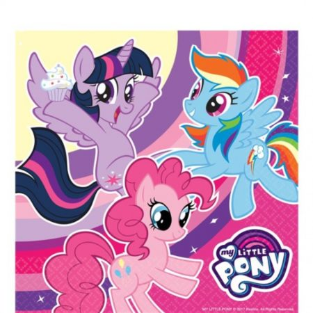 Afbeelding van My Little Pony My Little Pony servetten roze 20 stuks 33 cm