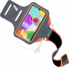 Oranje Mobiparts Comfort Fit Sport Armband Samsung Galaxy A41 (2020) Neon Orange