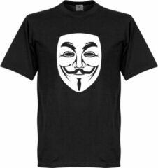 Zwarte Retake Guy Fawkes T-shirt - XXL