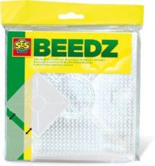 SES Beedz strijkkralenbordjes transparant vierkant 2 stuks