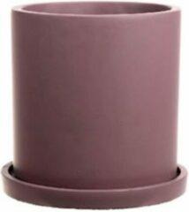 Duif Plantenpot oud roze/ roze paars- Bloempot - Woondecoratie - 16x16cm