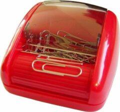 Rode SDI - Paperclip rol-dispenser - 80x90x45mm - Inclusief 100 paperclips! - Assortie kleuren - 1 stuk