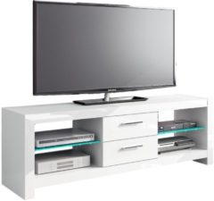 Witte Hubertus Meble TV Meubel Andora 150 cm breed - Hoogglans Wit