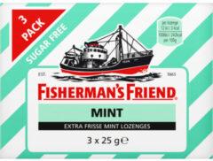 Fisherman's Friend Fishermansfriend Strong Mint Suikervrij 25 Gram (3x25g)