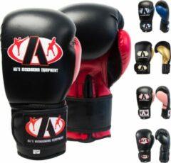Ali's fightgear bokshandschoenen kinderen bt go zwart met rood - 8 oz - S
