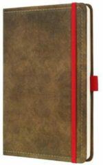 Sigel Notitieboek Conceptum 194blz hard Vintage Brown 135x203mm gelinieerd