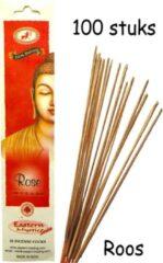 Eastern Mystic Rose Roos Wierook 100 Stuks Incense sticks - 25cm