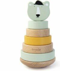Groene Trixie houten stapeltoren | Mr. Polar Bear | Stacking toy | Tower | IJsbeer | Speelgoed