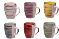 Merkloos / Sans marque Koffiemokken (6 stuks) | Kleurrijk | Koffiekopjes