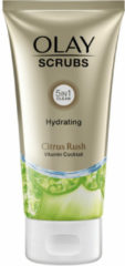 Olay Hydrating Scrub Citrus Rush, Zachte Scrub Voor Schitterende Gloed Met Citrus-Extract En Vitaminen B3, B5 En E, 150ml