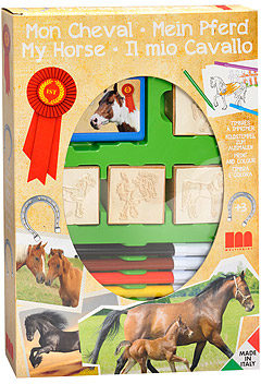 Afbeelding van Basic Stempelset Paarden 4 Stempels + Viltstiften