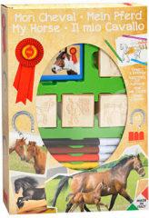 Basic Stempelset Paarden 4 Stempels + Viltstiften