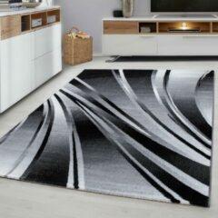 Parma Design Vloerkleed Zwart / Grijs Laagpolig- 80x150 CM