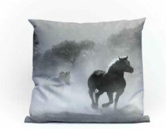 Witte Sierkussens | Paarden | Interieur | 60CM X 60CM | topkwaliteit