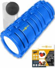 Donkerblauwe Rising-Phoenix RP® Foam Roller inclusief Massage Bal Foamroller Massage Roller & Massagebal - Met Tas, Triggerpoint Bal, Workout eBook & Poster