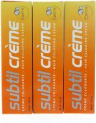 Blauwe Subtil Creme Hair Coloring Cream Haarverf Basique Blue 60ml