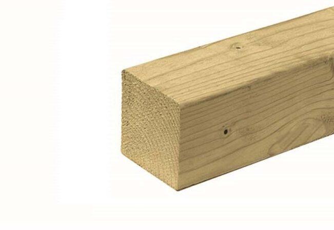 Afbeelding van Woodvision Tuinhout paal | ME Vuren | 120 x 120 mm | Sc. 400 cm