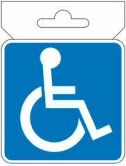 Avisa Autostyle Autosticker Handicap 7 X 7 Cm Blauw