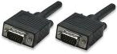Manhattan VGA Aansluitkabel [1x VGA-stekker - 1x VGA-stekker] 1.80 m Zwart