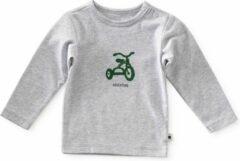 Little Label Meisjes shirt lange mouw - grijs - Maat 68