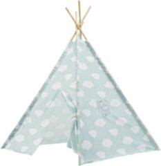 Lucy's Living Luxe Tipi Tent WOLKJE mint groen - 120 x 120 x 150 cm - wigwam speeltent - tipi tent kinderen - speeltent kinderen - jongens en meisjes - speelgoed