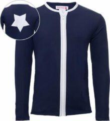 Petit Crabe UV werend shirt Kinderen lange mouwen Ster - Donkerblauw - Maat 128-134