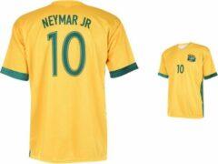 Gele Holland Brazilië Voetbalshirt Neymar Thuis -104