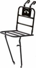 Zwarte Steco voordrager transport comfort glans zwart 26-28 inch 30x30cm