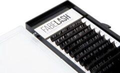 Zwarte Fabelash Wimperextensions D curl dikte 0,07 mm lengte 13 mm 16 rijen