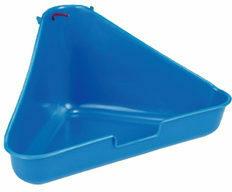 Beeztees Toilet voor knaagdier en konijn, hoekmodel - Blauw