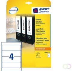 Avery Zweckform L6061-25 ordnerrugetiketten ft 19,2 x 5,9 cm (b x h), 120 etiketten, wit
