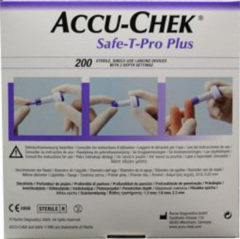 Witte Roche Accu-Chek Safe-T-Pro Plus Lancetten (200 stuks)