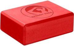 Trendy Sport Yoga blok - Yogablok - Yoga Block - 23 cm lang - 15 cm breed - 7.5 cm dik - Rood
