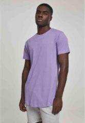 Urban Classics Heren Tshirt -S- Shaped Long Paars