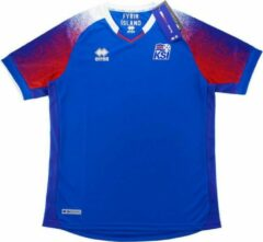 Blauwe Errea Ijsland Home Shirt L BOYS ( 10 a 12 jaar )