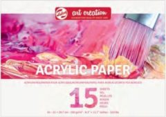 Witte Royal Talens Talens Art Creation Acrylverf Papier A4 290gr 15 vel