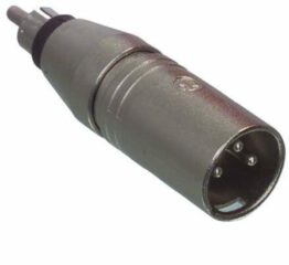 Zilveren Neutrik NA2MPMM XLR (m) - RCA (m) adapter