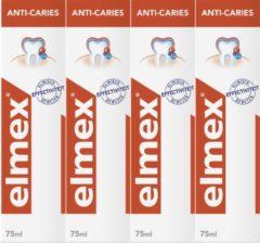Elmex Anti Caries Tandpasta 4 x 75ml - Voordeelverpakking