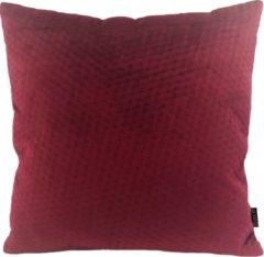 Gek op Kussens! Red Button Velvet Kussenhoes | Fluweel / Velours | Wijnrood | 45 x 45 cm