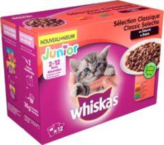 8410136017254 Whiskas 2-12 Junior Multipack Maaltijdzakjes - Classic in Saus - Kitttenvoer - 48 x 100g