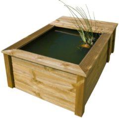 Naturelkleurige Ubbink Quadro wood III set houten FSC frame met PVC folie en filterkast