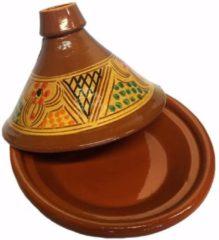 Bruine Marocstore.nl Marokkaanse Originele Tajine - Aardewerk - Ø 26 Cm