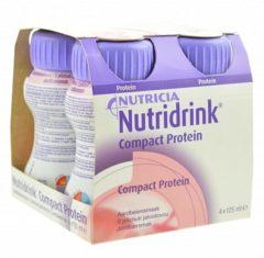 Nutridrink Compact Proteïne Aardbei Shake - 4 x 125 ml - Drinkmaaltijd