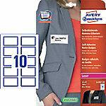 AVERY Zweckform L4787-20 Naam Etiketten 80 x 50 mm Wit, Blauw Rechthoekig 20 Vellen van 10 Etiketten
