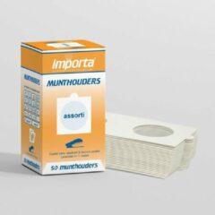 Witte Importa Munthouders om te nieten assortiment - 50 stuks