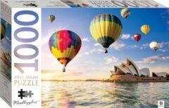 Blauwe Hinkler Jigsaw puzzel 1000 stukjes - Opera House Sydney met luchtballonnen - Australia