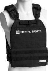 Zwarte Capital_sports Battlevest 2.0 gewichtsvest , dikke schouder-, borst- en rugpads , klitten- en rubberen banden voor een perfecte pasvorm
